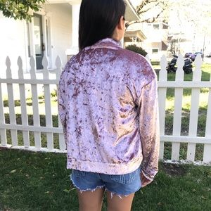 Have Jackets & Coats - Crushed Velvet #476 Have Brand Bomber Jacket